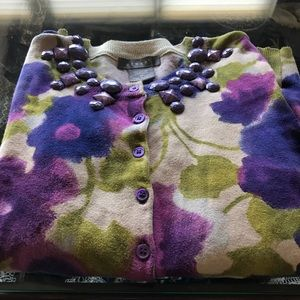 Cotton Floral Cardigan